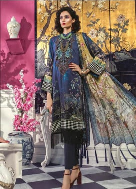 Maria B Embroidered Linen Unstitched 3 Piece Suit MBP19WE 707 B - Winter Collection