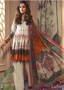 Maria B Embroidered Khaddar Unstitched 3 Piece Suit MBP19WE 708 A - Winter Collection