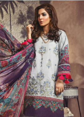 Maria B Embroidered Khaddar Unstitched 3 Piece Suit MBP19WE 708 B - Winter Collection