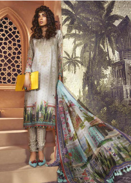 Maria B Embroidered Karandi Unstitched 3 Piece Suit MBP19WE 709 A - Winter Collection