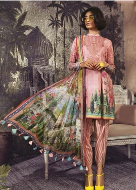 Maria B Embroidered Karandi Unstitched 3 Piece Suit MBP19WE 709 B - Winter Collection