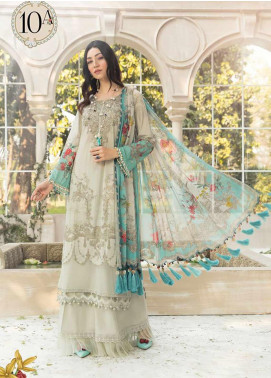 Maria B Embroidered Lawn Unstitched 3 Piece Suit MB20S 10A - Summer Collection