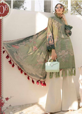 Maria B Embroidered Lawn Unstitched 3 Piece Suit MB20S 10B - Summer Collection