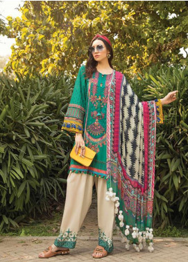 Maria B Embroidered Lawn Unstitched 3 Piece Suit MB20S 11B - Summer Collection