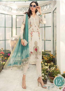 Maria B Embroidered Lawn Unstitched 3 Piece Suit MB20S 12A - Summer Collection
