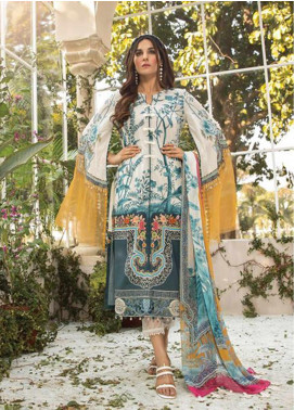 Maria B Embroidered Lawn Unstitched 3 Piece Suit MB20S 3B - Summer Collection