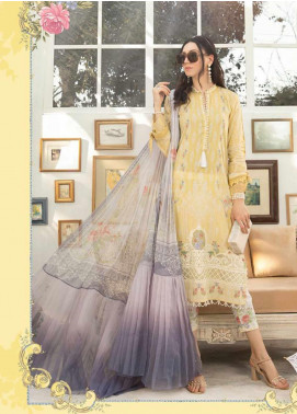 Maria B Embroidered Lawn Unstitched 3 Piece Suit MB20S 9B - Summer Collection