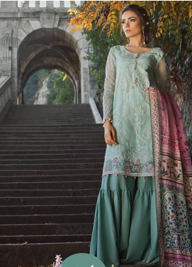 Maria B Embroidered Cotton Satin Unstitched 3 Piece Suit MB18CS 01 - Fall Winter Collection