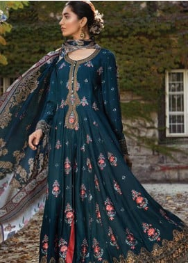 Maria B Embroidered Cotton Satin Unstitched 3 Piece Suit MB18CS 03 - Fall Winter Collection