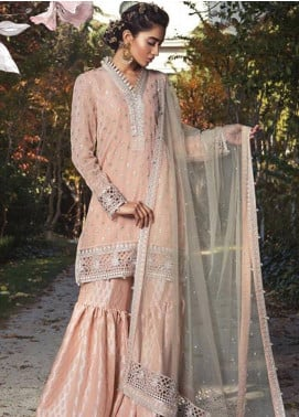 Maria B Embroidered Cotton Satin Unstitched 3 Piece Suit MB18CS 05 - Fall Winter Collection
