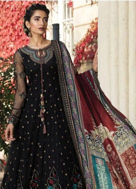 Maria B Embroidered Cotton Satin Unstitched 3 Piece Suit MB18CS 08 - Fall Winter Collection