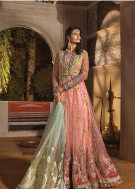 Maria B Embroidered Velvet Unstitched 3 Piece Suit MB19WE 1802 - Wedding Collection