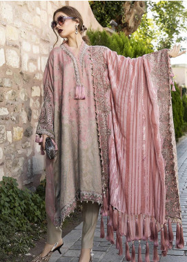 Maria B Embroidered Woven Unstitched 3 Piece Suit MB20WL DL-802 - Winter Collection