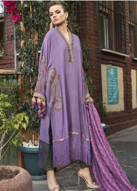 Maria B Embroidered Linen Unstitched 3 Piece Suit MB20WL DL-803 - Winter Collection