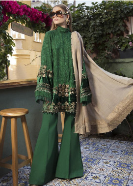 Maria B Embroidered Linen Unstitched 3 Piece Suit MB20WL DL-804 - Winter Collection