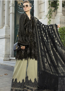 Maria B Embroidered Velvet Unstitched 3 Piece Suit MB20WL DL-806 - Winter Collection