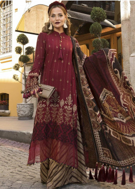 Maria B Embroidered Linen Unstitched 3 Piece Suit MB20WL DL-807 - Winter Collection