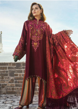 Maria B Embroidered Chashm-e-bulbul Unstitched 3 Piece Suit MB20WL DL-808 - Winter Collection