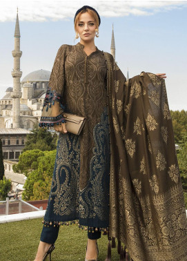 Maria B Embroidered Linen Unstitched 3 Piece Suit MB20WL DL-810 - Winter Collection