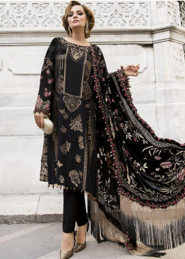 Maria B Embroidered Linen Unstitched 3 Piece Suit MB20WL DL-812 - Winter Collection