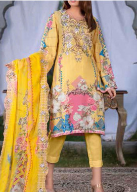 Maria by Zebaish Embroidered Karandi Unstitched 3 Piece Suit ZSH20M 03 - Winter Collection