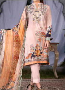 Maria by Zebaish Embroidered Karandi Unstitched 3 Piece Suit ZSH20M 06 - Winter Collection