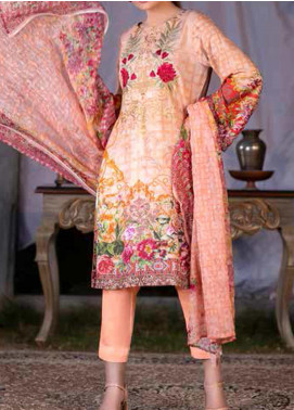 Maria by Zebaish Embroidered Karandi Unstitched 3 Piece Suit ZSH20M 07 - Winter Collection