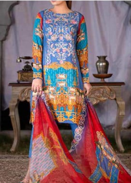 Maria by Zebaish Embroidered Karandi Unstitched 3 Piece Suit ZSH20M 08 - Winter Collection