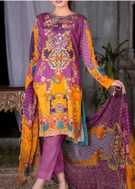 Maria by Zebaish Embroidered Karandi Unstitched 3 Piece Suit ZSH20M 09 - Winter Collection
