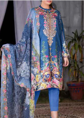 Maria by Zebaish Embroidered Karandi Unstitched 3 Piece Suit ZSH20M 10 - Winter Collection