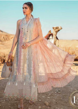 Maria B Embroidered Jacquard Unstitched 3 Piece Suit MB20SV 2014 A - Spring / Summer Collection