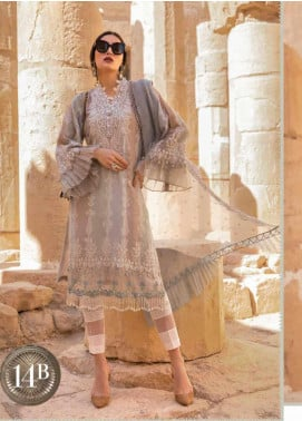 Maria B Embroidered Jacquard Unstitched 3 Piece Suit MB20SV 2014 B - Spring / Summer Collection
