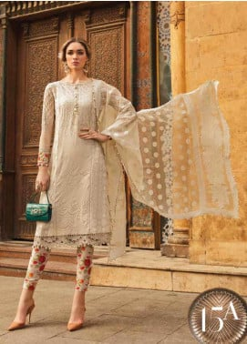Maria B Embroidered Lawn Unstitched 3 Piece Suit MB20SV 2015 A - Spring / Summer Collection