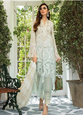 Maria B Embroidered Lawn Unstitched 3 Piece Suit MR20E D-1 - Eid Collection