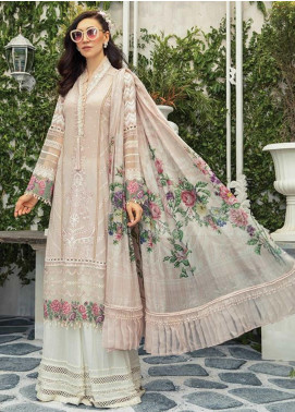 Maria B Embroidered Lawn Unstitched 3 Piece Suit MR20E D-10 - Eid Collection