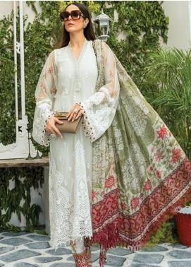 Maria B Embroidered Net Unstitched 3 Piece Suit MR20E D-2 - Eid Collection