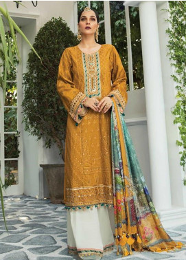 Maria B Embroidered Lawn Unstitched 3 Piece Suit MR20E D-4 - Eid Collection
