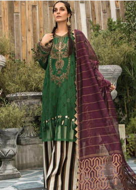 Maria B Embroidered Lawn Unstitched 3 Piece Suit MR20E D-7 - Eid Collection