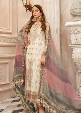 Maria B Embroidered Khaadi Unstitched 3 Piece Suit MR20M D 02 - Luxury Collection