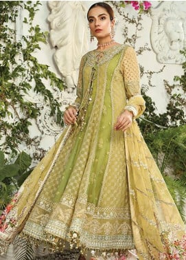 Maria B Embroidered Chiffon Unstitched 3 Piece Suit MR20M D 04 - Luxury Collection