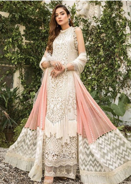 Maria B Embroidered Organza Unstitched 3 Piece Suit MR20M D 05 - Luxury Collection