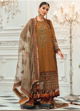 Maria B Embroidered Chiffon Unstitched 3 Piece Suit MR20M D 06 - Luxury Collection