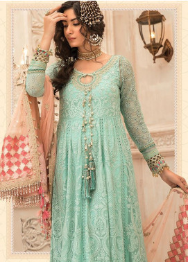 Maria B Embroidered Chiffon Unstitched 3 Piece Suit MR20M D 08 - Luxury Collection
