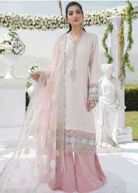 Sateen by Maria B Embroidered Cotton Satin Unstitched 3 Piece Suit MB20SF 02 - Fall Collection