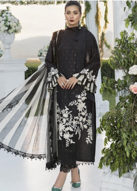 Sateen by Maria B Embroidered Cotton Satin Unstitched 3 Piece Suit MB20SF 03 - Fall Collection