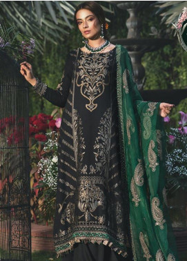 Maria B Embroidered Jacquard Unstitched 3 Piece Suit MB20W 203 Emerald - Winter Collection