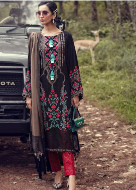 Maria B Embroidered Linen Unstitched 3 Piece Suit MB19W 10 - Winter Collection
