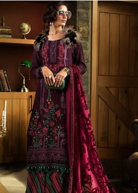 Maria B Embroidered Linen Unstitched 3 Piece Suit MB19W 6 - Winter Collection