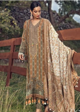 Maria B Embroidered Karandi Unstitched 3 Piece Suit MB19W 9 - Winter Collection