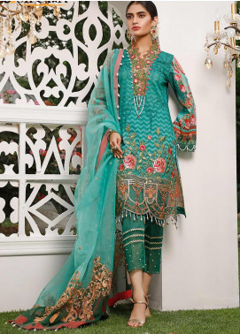 Marjaan by Sifona Embroidered Lawn Unstitched 3 Piece Suit MJ20SF 07 - Luxury Collection